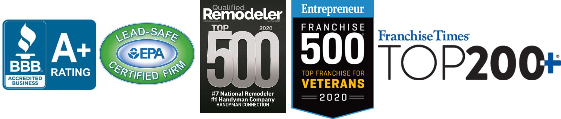 recognition from BBB EPA remodeler entrepreneur and franchise times