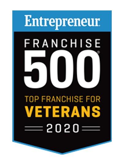 Entrepreneur Franchise 500 Top Franchise for Veterans 2020